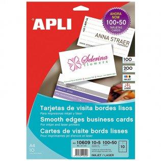 Tarjetas de visita Apli 200g 150 tarjetas mate