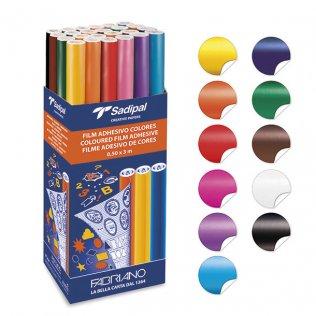 Forro Sadipal adhesivo de colores Expositor