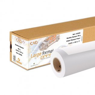Papel plotter Canson 90g Quality Opaco InkJet 24' 610mmx50m