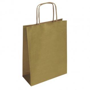 Bolsa de papel kraft Oro grande