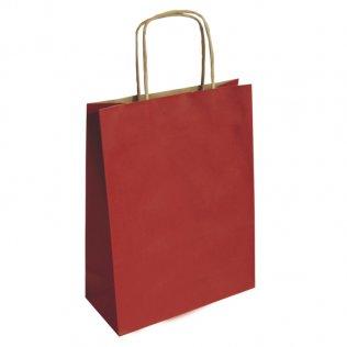 Bolsa de papel kraft rojo mediana