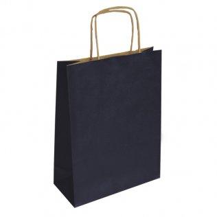 Bolsa de papel kraft Azul marino mediana