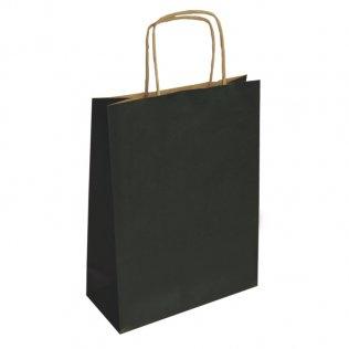 Bolsa de papel kraft Negra mediana