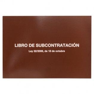 Libro subcontratación castellano Fº 10 hojas Miquelrius