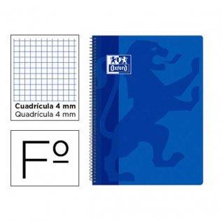 Bloc espiral Oxford T. Extradura A4+ 80h 90gr 5x5 Azul