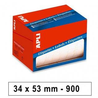 Etiquetas en rollo 34x53mm 900ud Apli