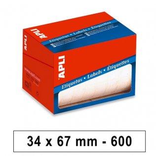 Etiquetas en Rollo 34x67mm 600ud Apli