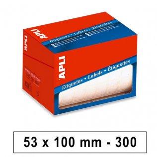 Etiquetas en rollo 53x100mm 300ud Apli
