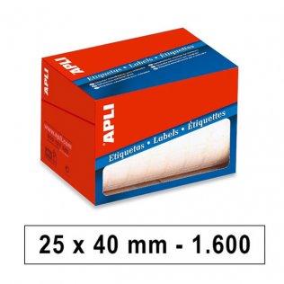 Etiquetas en Rollo 25x40mm 1600ud Apli