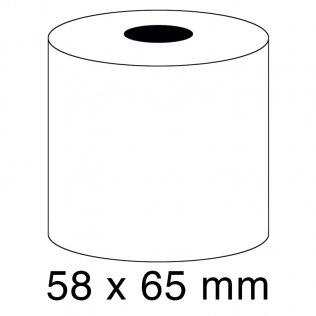 Rollo papel sumadora 60g 58x65mm