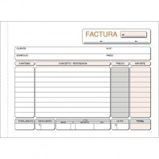 Talonario facturas 207x145mm duplicado 50 juegos apaisado Plus Office