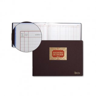 Libro registro socios SRL 305x213mm 100 hojas Miquel Rius
