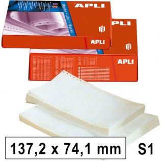 Etiquetas en continuo 137,2x74,1mm 1 salida 2000ud Apli