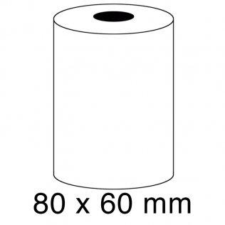 Rollo papel sumadora térmico 55g 80x60mm