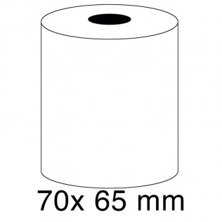 Rollo papel sumadora 60g 70x65mm
