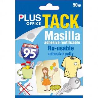 Masilla adhesiva Tack 50 gramos Plus Office