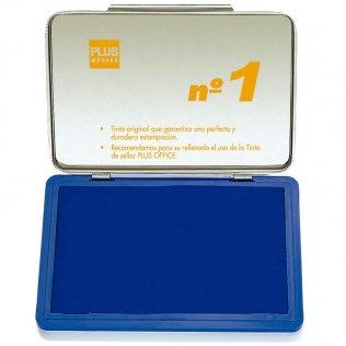 Almohadillas para sellar Plus Office Nº 1 Azul 140x100mm