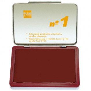 Almohadillas para sellar Plus Office Nº 1 Rojo 140x100mm