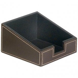 Portanotas Marrón simil-piel 115x65x115mm Makro Paper