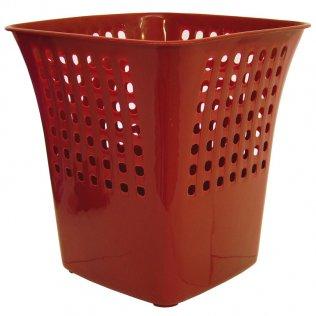Papelera Makro Paper cuadrada roja 14 L