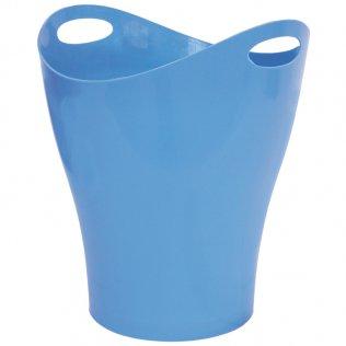 Papelera ovalada azul 14 L Makro Paper