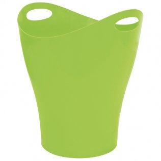 Papelera ovalada verde 14 L Makro Paper