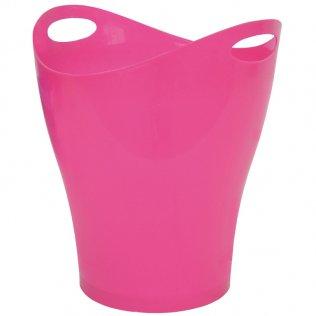 Papelera ovalada rosa 14 L Makro Paper