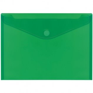 Sobre 2030 A4+ PP verde velcro apaisado Plus Office