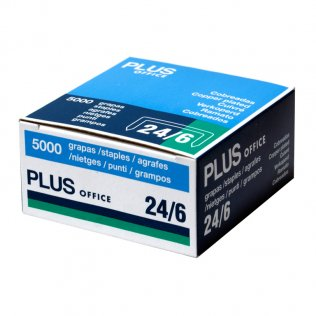 Grapas Plus Office 22/6-24/6 cobreadas (5000ud/caja)