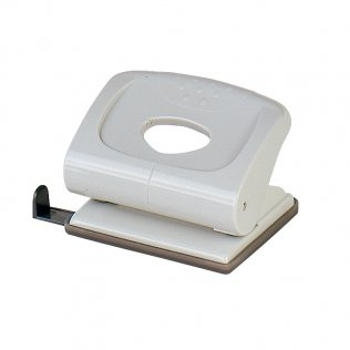 Perforador sobremesa Plus Office 170 Gris claro