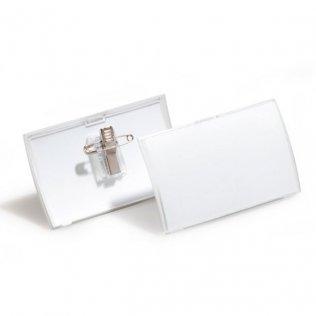 Portanombres con pinza combi Durable 40x75mm