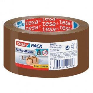 Cinta de precinto Tesa marrón 50mm x 66m PVC