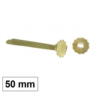 Encuadernador latón con arandela 50 mm