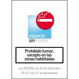 Pictograma Archivo 2000 Prohibido fumar excepto en zonas habilitadas