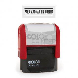 Sello automático Colop Printer 20 Negro - Para abonar en cuenta