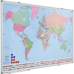Mapa del mundo magnético Planning Sisplamo