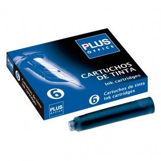 Recambio para Plumas Plus Office Azul 6 ud