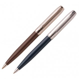 Bolígrafo Swing Deluxe Negro y Marrón Estuche 1 ud