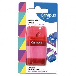 Afilalápiz Campus College con goma y depósito / blíster 1 ud