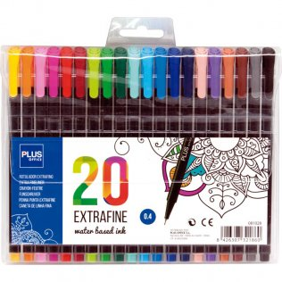 Rotulador Plus Office Extrafine Estuche 20 colores