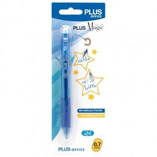 Bolígrafo Borrable Plus Magic Click Azul 0,7 mm Blíster