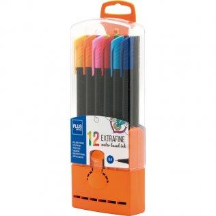 Rotulador Plus Office Extrafine Cápsulas 12 colores