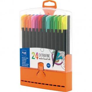 Rotulador Plus Office Extrafine Cápsulas 24 colores
