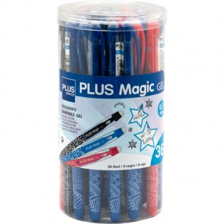 Bolígrafo Borrable Plus Magic Gel Bote 36 ud Surtidos