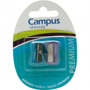 Afilalápiz Campus metálico Premium / blíster 2 ud