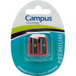 Afilalápiz Campus metálico Premium doble / blíster 1 ud
