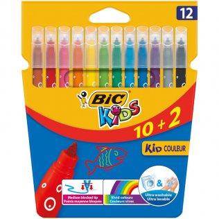Rotulador Bic Kids Coleur 10+2 colores