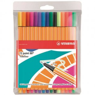 Rotulador Stabilo Point 88 Just Like You! Estuche 15 colores
