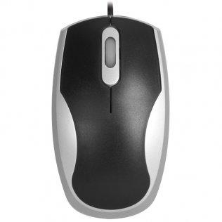 Ratón óptico Plus negro/gris
