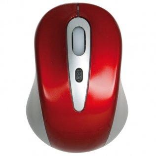 Ratón óptico inalámbrico rojo/negro